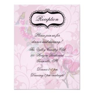 Carte Carte de réception de magnolias de colibris