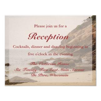 Carte de réception de mariage de plage - plage carton d'invitation 10,79 cm x 13,97 cm