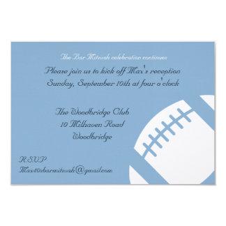 Carte de réception de Mitzvah de barre - le Carton D'invitation 8,89 Cm X 12,70 Cm