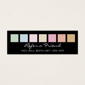 Carte de référence - couleurs en pastel fines