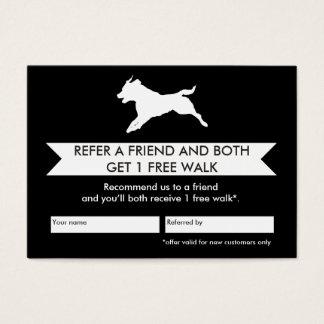 Carte de référence de marcheur de chien -