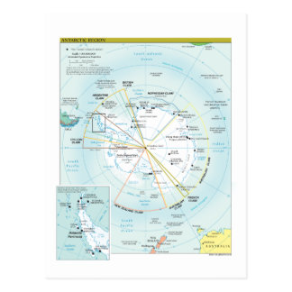 Carte de région antarctique