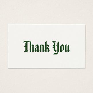 Carte de remerciements