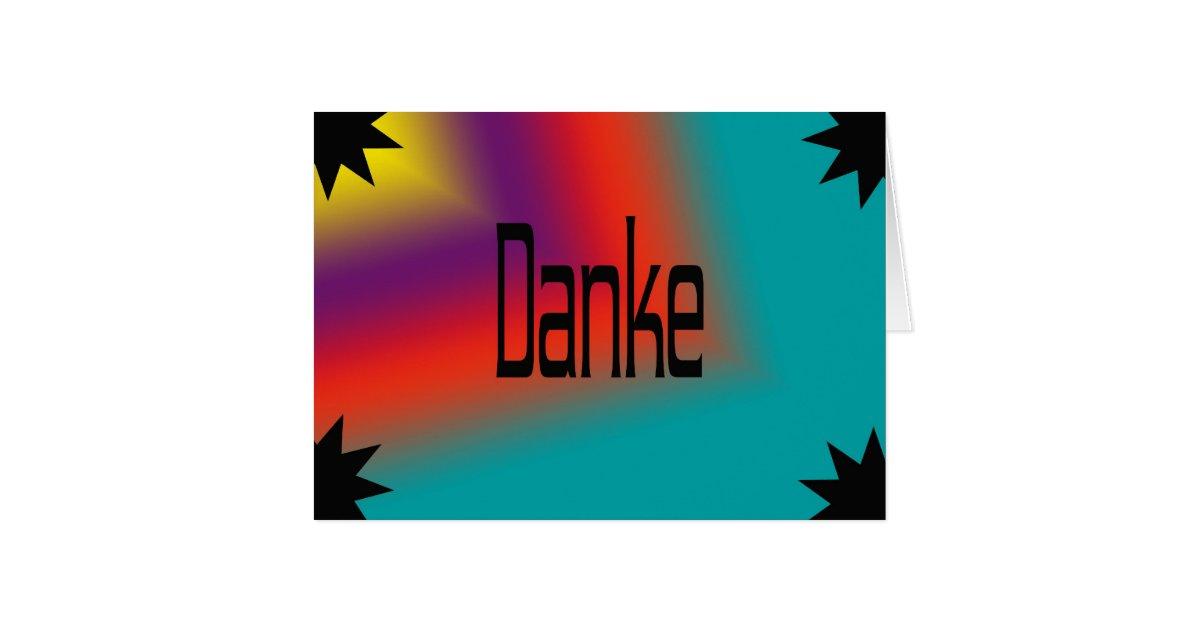 carte de remerciement en allemand