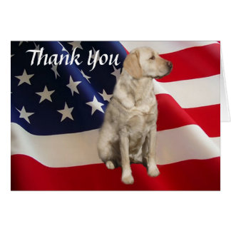 Carte de remerciements Amérique de labrador