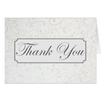 Carte de remerciements argenté de remous