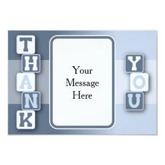Carte de remerciements avec le cadre des textes