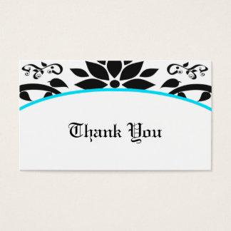 Carte de remerciements (bleu-clair) de jardin