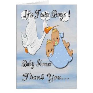 Carte de remerciements blond de baby shower de