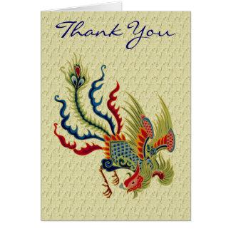 Carte de remerciements chinois de conception d'art