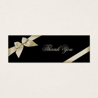 Carte de remerciements crème de ruban