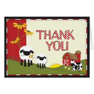 Carte de remerciements d'agriculteur de pays