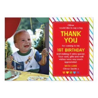 Carte de remerciements d'anniversaire