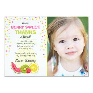 Carte de remerciements d'anniversaire de fruit de