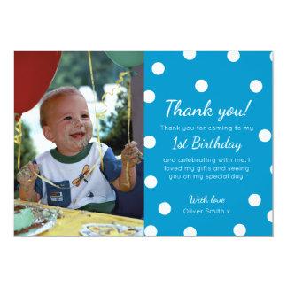 Carte de remerciements d'anniversaire pointillé