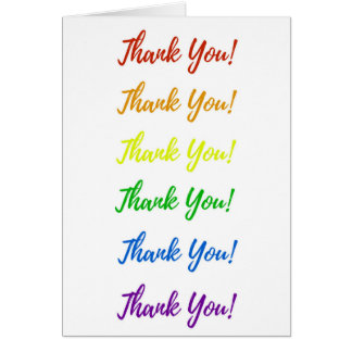 Carte de remerciements d'arc-en-ciel