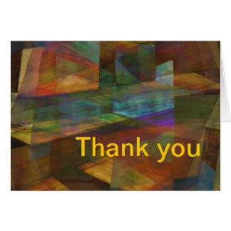 Carte de remerciements d'art numérique