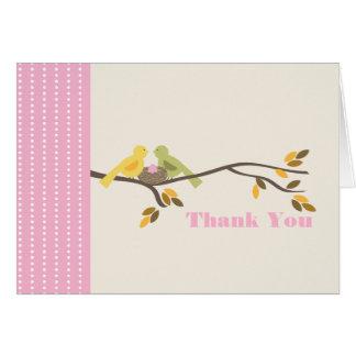 Carte de remerciements d'automne de rose d'oeufs