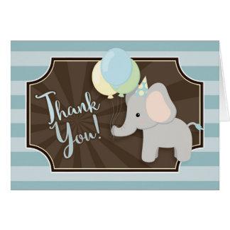 Carte de remerciements de baby shower d'éléphant