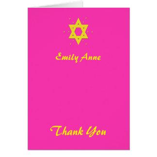 Carte de remerciements de bat mitzvah