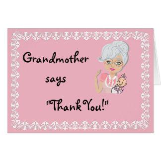 Carte de remerciements de cadeau de baby shower de