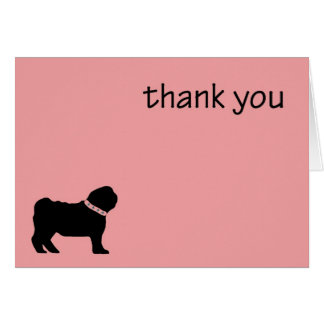 Carte de remerciements de carlin
