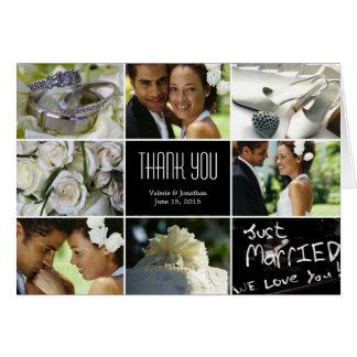 Carte de remerciements de collage de mariage -