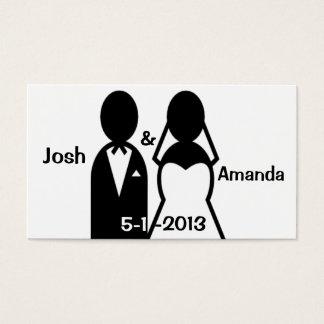 Carte de remerciements de couples de mariage