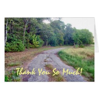 Carte de remerciements de coutume de route de