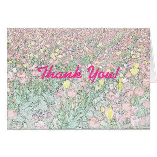Carte de remerciements de dessin de main de