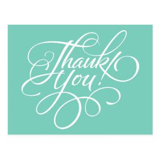 Carte de remerciements de fantaisie de turquoise