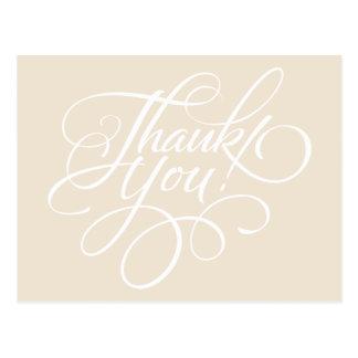 Carte de remerciements de fantaisie d'ivoire de