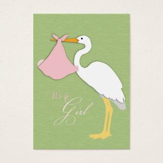Carte de remerciements de fille de cigogne