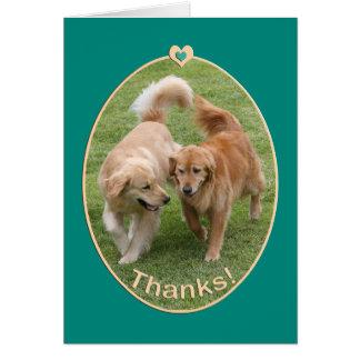Carte de remerciements de golden retriever
