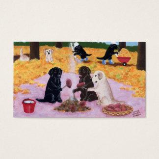 Carte de remerciements de Labradors
