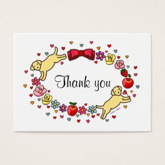 Carte de remerciements de MAMAN de LABRADOR