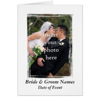Carte de remerciements de mariage