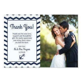 Carte de remerciements de mariage, carte plate