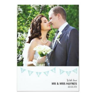 Carte de remerciements de mariage - carte plate