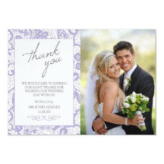 Carte de remerciements de mariage, carte plate carton d'invitation  12,7 cm x 17,78 cm
