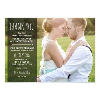 Carte de remerciements de mariage - carte plate carton d'invitation  12,7 cm x 17,78 cm