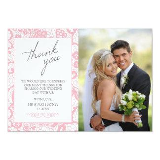 Carte de remerciements de mariage, carte plate de carton d'invitation  12,7 cm x 17,78 cm