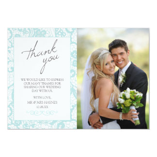 Carte de remerciements de mariage, carte plate en