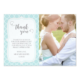 Carte de remerciements de mariage, conception de
