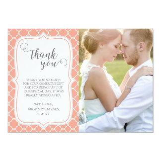 Carte de remerciements de mariage, conception de carton d'invitation  12,7 cm x 17,78 cm