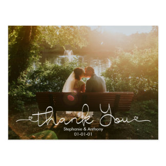 Carte de remerciements de mariage de photo de