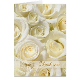 Carte de remerciements de mariage - roses de