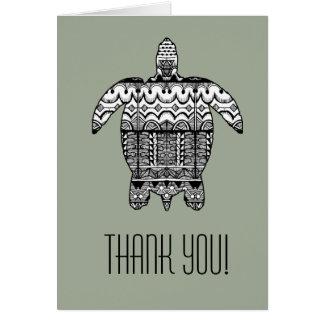 Carte de remerciements de motif de tortue de mer