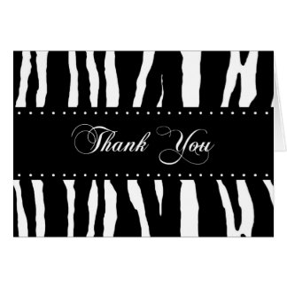 Carte de remerciements de motif d'impression de