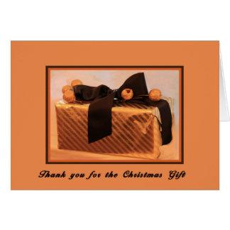 Carte de remerciements de Noël pour le cadeau